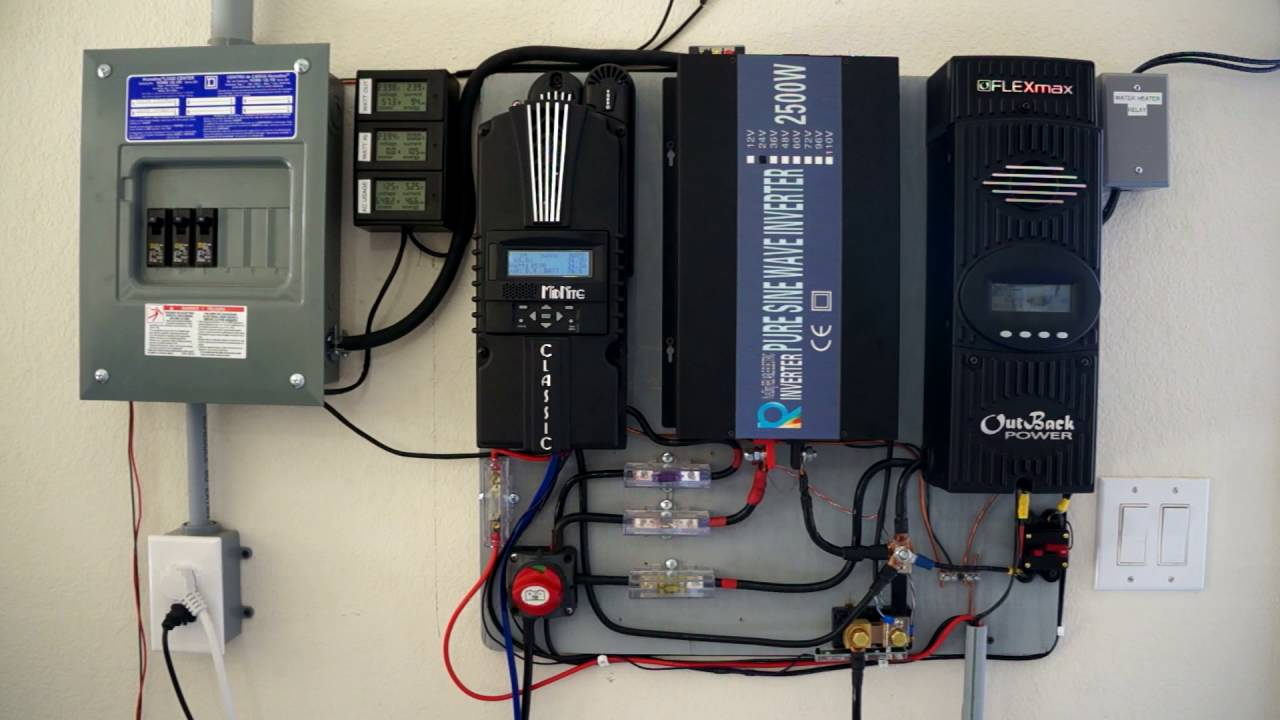 2kw Off Grid Solar Overview Cooling Battery Bank