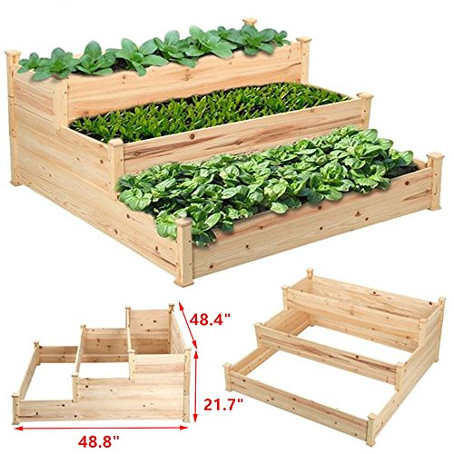Go2buy Rustic Elevated Garden Bed Raised Garden Planters ...